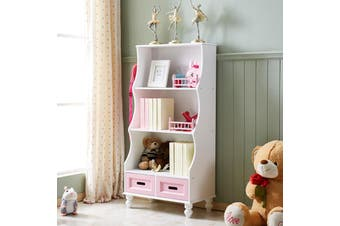 ALL 4 KIDS Gloria Pink Bookcase Book Shelf Storage Unit