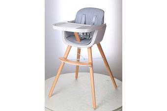 JOY  BABY Grace Timber Highchair - Grey