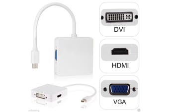 3in1 Mini Display port to HDMI DVI VGA Adapter for Microsoft Surface Pro 1 2 3 4, MacBook Pro Air Retina iMac