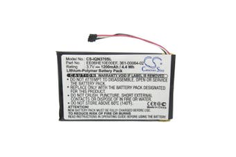 Battery for Garmin Nuvi GPS 3700 3760 3760T 3790 3790T 361-00046-02 361-00064-02
