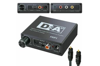 192kHz Hi-Fi Digital Optical Coaxial Toslink to Analog RCA LR 3.5mm Audio Converter