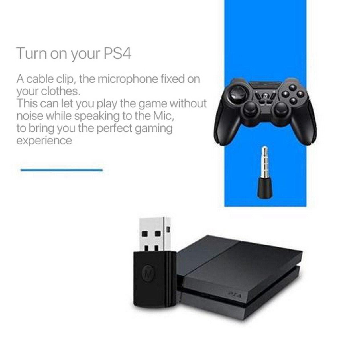 Microphone For Playstation 4 Ps4 Bluetooth Headset Dongle Usb Adapter Receiver Jolash Pl