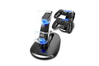 PlayStation 4 PS4 Dual USB Controller Charger Dock Station Fast Charging Stand with LED