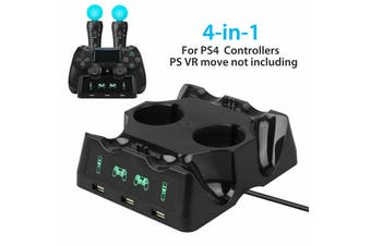 4 in 1 Charger Charging Dock Stand For Sony PS4 Playstation 4 VR PSVR Move and Dualshock Controllers