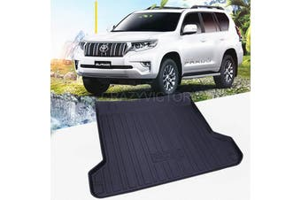 Cargo Rubber Waterproof Mat Boot Liner Cover Luggage Tray for TOYOTA PRADO 150 Series 5 Seater 2009-2020