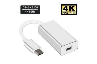 USB 3.1 Type C to Mini Display Port DP 4K Video Adapter Cable for iMacs/ Mac Mini/ MacBook Pro Air/Surface Book 2/Dell XPS 13 15/Samsung S8 S9 note 8 9