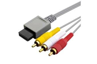 Audio Video RCA AV Cable Cord for Nintendo Wii/Wii U/Wii mini Console