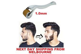 Beard Derma Roller 192 Titanium 1mm Needles Hair Growth Stimulator Dermaroller