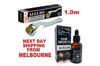 Derma Roller Hair Loss Kit Serum 192 Titanium Micro Needles Dermaroller 1.0mm