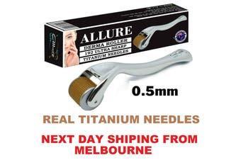 Derma Roller 0.5mm 192 Titanium Needles Dermaroller Anti Aging Wrinkle Scarring