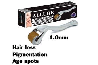DERMA ROLLER Hair Loss 192 Titanium Micro Needles Dermaroller 1.0mm Anti Aging