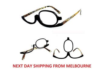 Magnifying Eye Makeup Glasses +2.50 Flip Lens