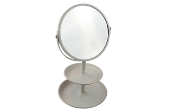 Double Sided Vanity Mirror With Tray White