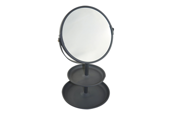 Double Sided Vanity Mirror With Tray Coal