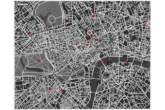 Pin City London Felt Map