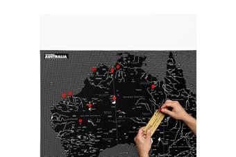 Pin World Australia Felt Map