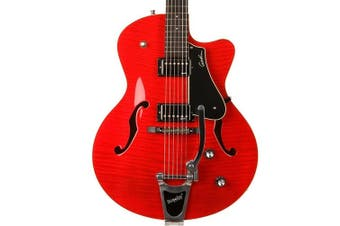 GODIN  5th Avenue Uptown Trans Red GT w/Bigsby Hollow Body Guitar with case