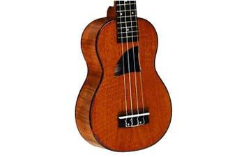 Eddy Finn Ukulele Concert Uke Flamed Okume Uke EF-11C Aquila Strings High Gloss