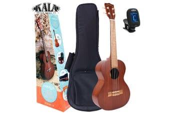 Kala MK-T/PACK Makala Pack  -  Tenor Ukulele  with clip-on tuner and  gig bag