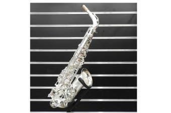 Linley  Alto Saxophone W/ High F# Key Sandblasted Silver Made in Taiwan