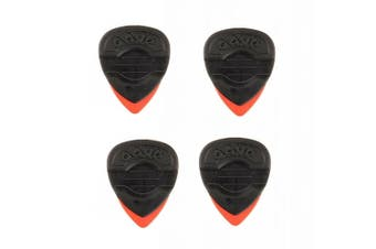 Dava 1303 Rock Delrin Control Grip Tips Guitar Pick  4- Pack