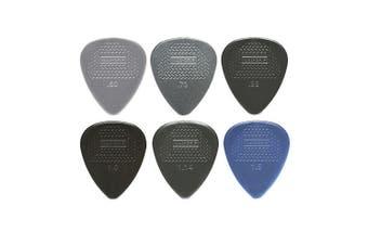 Dunlop Nylon Max Grip Guitar Picks - Mixed Gauge - 6 Picks
