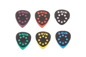 Dava Grip Tips Delrin Guitar Picks - 6 Pack Rhythm and lead in 1 pick
