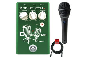TC Helicon Duplicator Vocal Effects Pedal with MP75 Microphone and XLR Cable