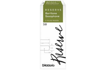D'Addario Woodwinds Rico Reserve Baritone Saxophone Reeds, Strength 3, 5 pack