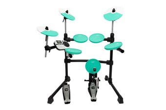 Kahzan 5-Piece Digital Electronic Drum Kit (Teal)