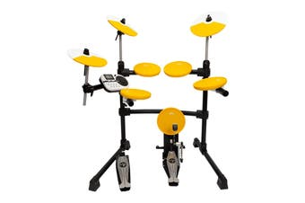 Kahzan 5-Piece Digital Electronic Drum Kit Yellow