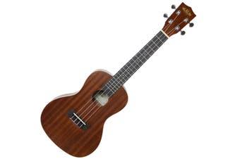 Kala KA-C Mahogany Concert Ukulele, Satin Finish Aquila Strings