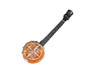 Luna UKE B8 ULU 8-Inch Concert Banjolele  Tobacco Burst Banjo / ukulele