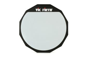 """Vic Firth Single-sided Practice Pad - 12""""  - PAD12 - with Soft Rubber Surface"""