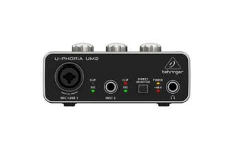 Behringer U-Phoria UM2  2-channel USB Audio Interface with 1  XENYX Preamp