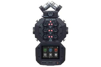 Zoom H8 8-input Handy Recorder 24-bit/96kHz, 12-track Field Recording System and USB Audio Interface