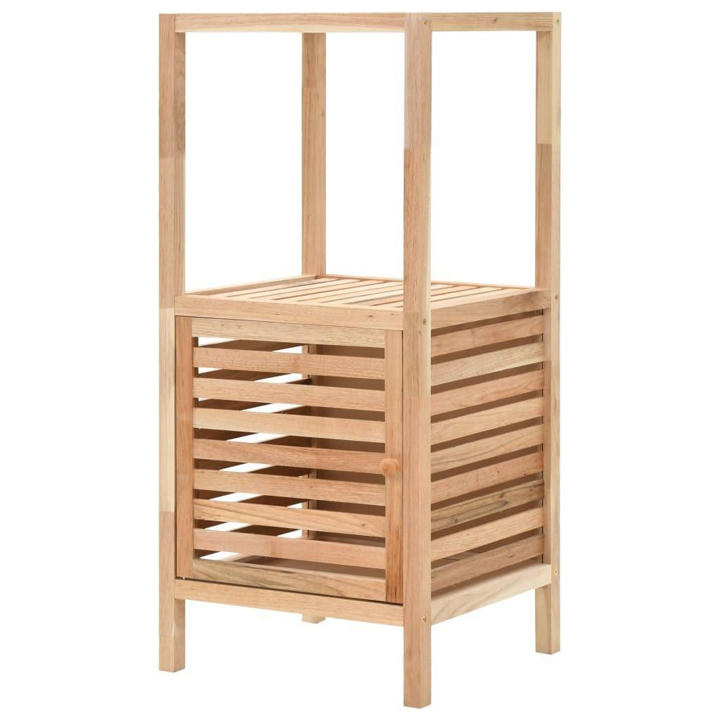 Bathroom Storage Cabinet Solid Walnut Wood 39 5x35 5x86 Cm Matt Blatt
