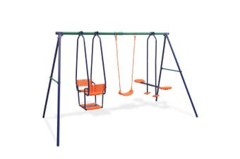 Kids Outdoor Swing Set Activity Play Centre 5 Seats Playground Swings