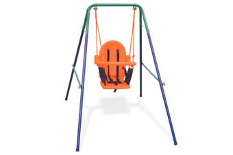 Outdoor Toddler kids Swing Set with Safety Harness Steel Frame Playground Swings