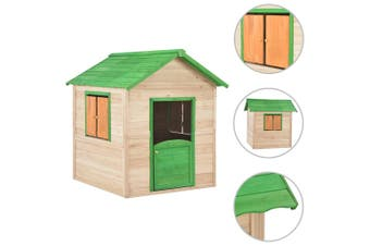 Kids Outdoor Wooden Play House Timber Cubby House Childrens Playhouse
