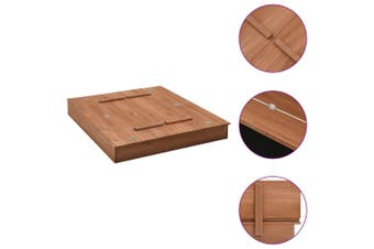 Wooden Outdoor Sandbox Play Sand Pit With Cover 90x90x15cm