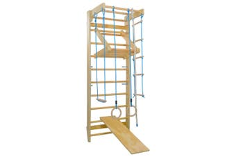 Kids Indoor Climbing Frame Playset With Slide Ladders & Rings