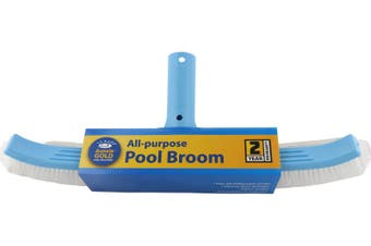 Aussie Gold Pool Brush 45cm Curved Pool Wall Brush Broom - 2 Year Warranty