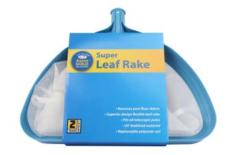Super Leaf Rake Pool Net -Aussie Gold Super Size Pool Scoop Shovel Net