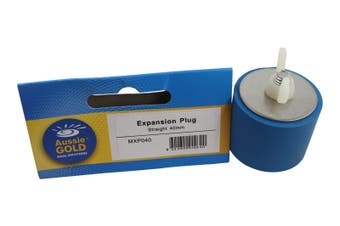 Expansion Plug 40mm For Pool Pipework - Straight Rubber Expansion Plug