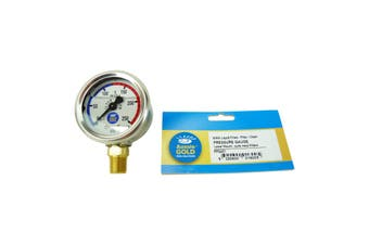 Aussie Gold Pool Filter Pressure Gauge Side Mount Wika S/S - Sand & Cartridge Filters