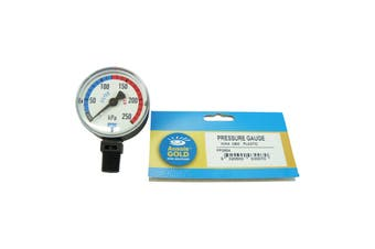 Aussie Gold Pool Filter Pressure Gauge Side Mount Eco - Sand & Cartridge Filters