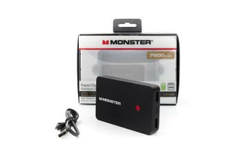 Monster 7500 mAh Portable Power Bank For Charging Smartphone Devices