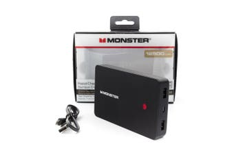 Monster 12500 mAh Portable Power Bank For Charging Smartphone Devices
