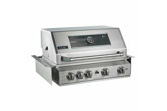 Smart 6 Burner Built-In Stainless Steel BBQ With Motorised Rotisserie